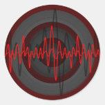 Sound Red Dark sticker round