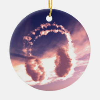 Sound the cloud christmas ornament