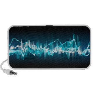 Sound wave Blue and Black speaker