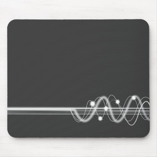 Sound Wave - Dark Grey Mouse Pad