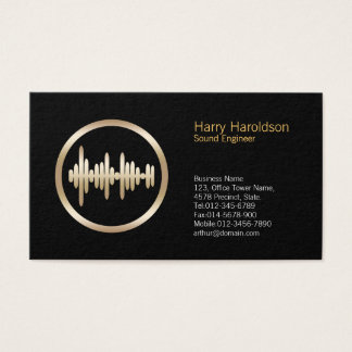Sound Wave Icon Sound Engineer Business Card