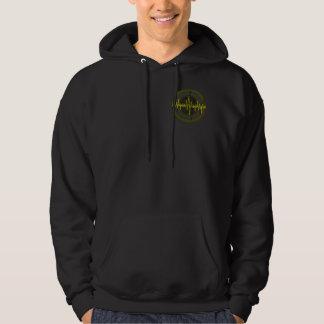 Sound Yellow Dark Round sweatshirt pocket & back