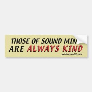 SoundMind-Kind Bumper Sticker