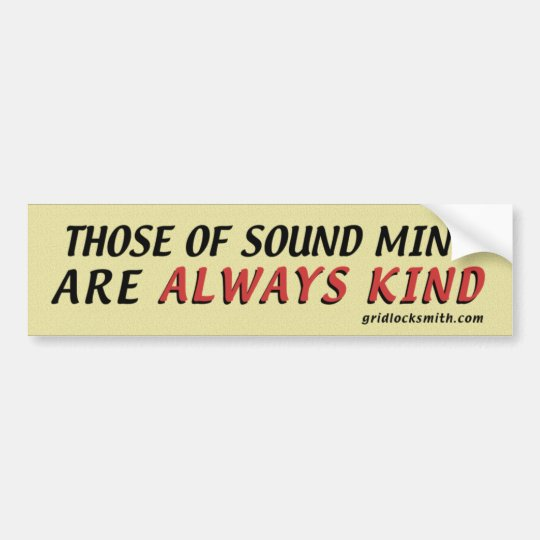 SoundMind-Kind Bumper Sticker