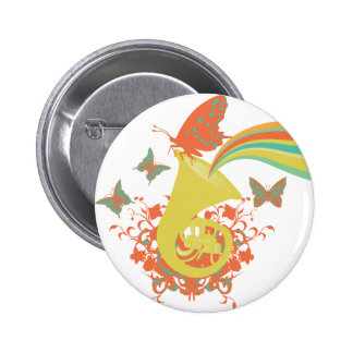 sounds of a horn vector design 6 cm round badge