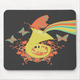 sounds of a horn vector design mouse pad