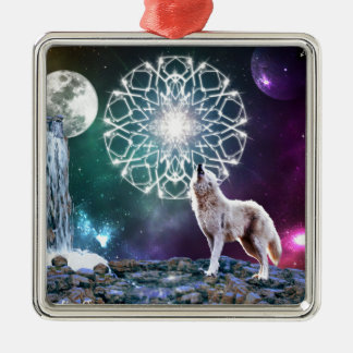 Sounds of the Universe Silver-Colored Square Decoration