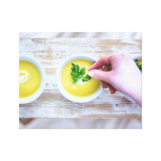 Soup and Herb Gallery Wrapped Canvas