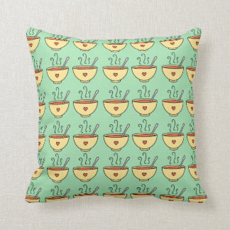 Soup Bowl Throw Pillow