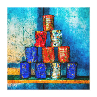 Soup Cans - Square Meal Gallery Wrap Canvas