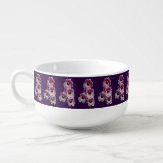 Soup Mug - Pansy Orchid