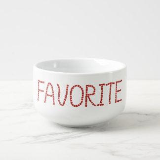 Soup mug with 'favorite'