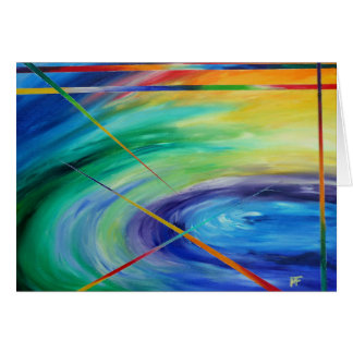 Soup of Life - abstract Art Card