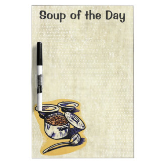 Soup of the day customizable menu dry erase board