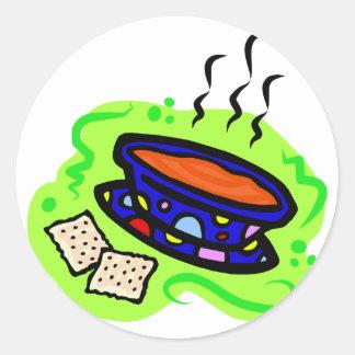 Soup Round Sticker