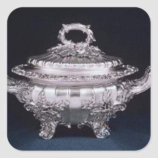 Soup tureen, one of a pair, made by Paul Storr Square Sticker