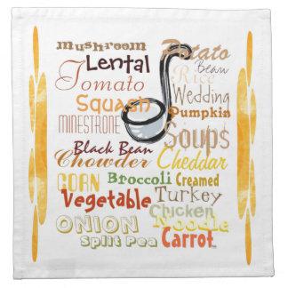 Soups Graffiti (gold) Napkin