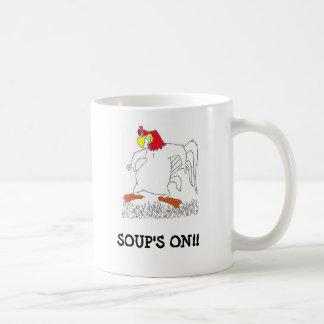 SOUP'S ON MUG