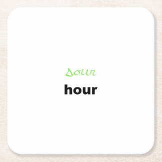 sour hour square paper coaster