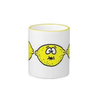 Sour Lemon Face Ringer Mug