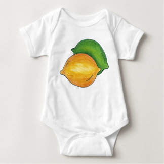 Sour Lemon n' Lime Citrus Fruit Cooking Foodie Baby Bodysuit