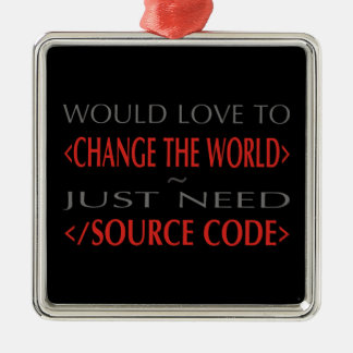 Source Code Christmas Ornament