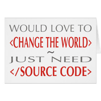 Source Code Greeting Card