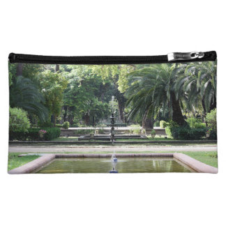 Source in Park of Maria Luisa, Seville Makeup Bags
