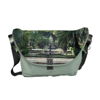Source in Park of Maria Luisa, Seville Messenger Bags