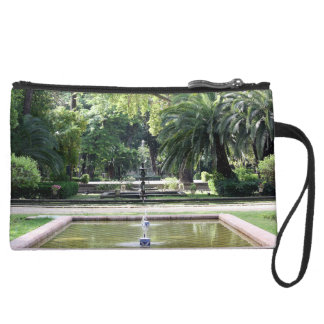 Source in Park of Maria Luisa, Seville Wristlet Clutch