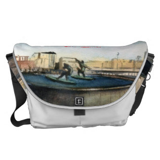 Source of the surfers (To Corunna) Messenger Bags