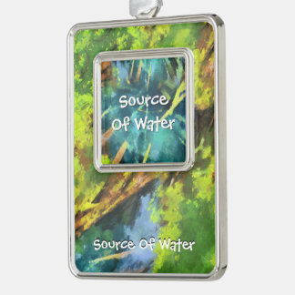 Source Of Water Silver Plated Framed Ornament