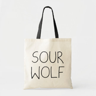 SOURWOLF (Customizable Color) Budget Tote Bag