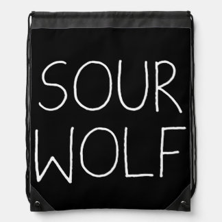 SOURWOLF (Customizable Color) Drawstring Backpacks