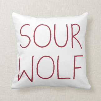 SOURWOLF (Customizable color) Throw Cushions