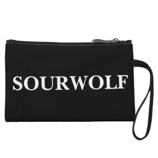 SOURWOLF (Customizable text and color) Wristlet Purses