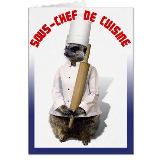 SOUS - CHEF DE CUISINE GREETING CARDS