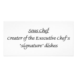 Sous Chef Defined Photo Greeting Card