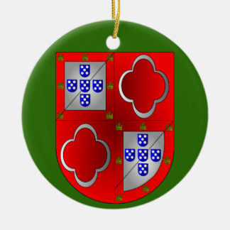 Sousa Family Coat of Arms Christmas Ornament