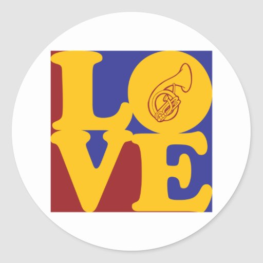 Sousaphone Love Round Sticker
