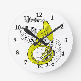 Sousaphone Round Clock