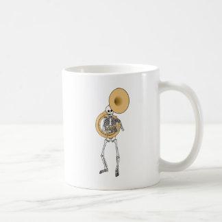 Sousaphone Skeleton Coffee Mugs