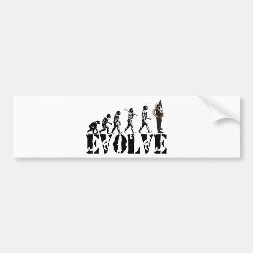 Sousaphone Tuba Tubas Evolution Musical Art Bumper Sticker