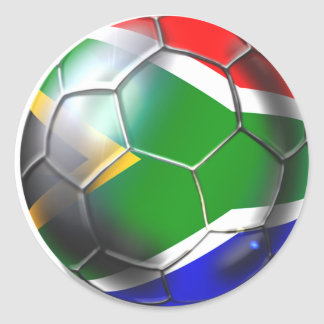 South Africa 2010 2011 Soccer Gifts Round Sticker
