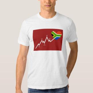South africa 2010 heartbeat shirt