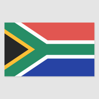 South Africa/African Flag Rectangular Sticker