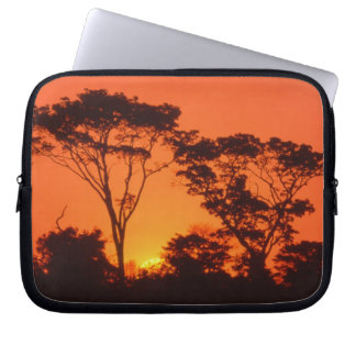 South Africa.  African sunset. Computer Sleeve