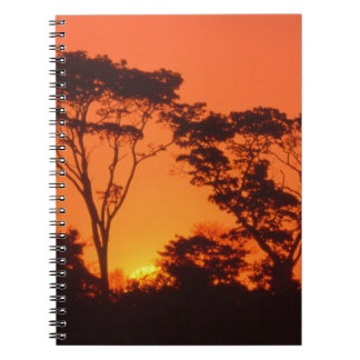 South Africa.  African sunset. Spiral Notebook