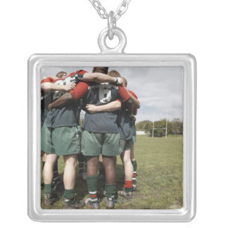 South Africa, Cape Town, False Bay Rugby Club 2 Silver Plated Necklace