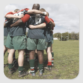 South Africa, Cape Town, False Bay Rugby Club 2 Square Sticker